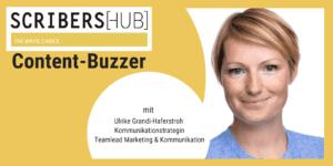 Ulrike Grandi-Haferstroh im Scribershub Content Buzzer