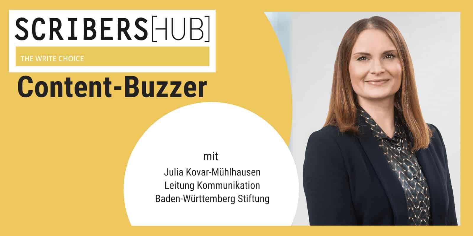 Julia Kovar-Mühlhausen im Contentbuzzer