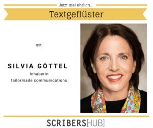 Silvia Göttel im Scribershub Textgeflüster