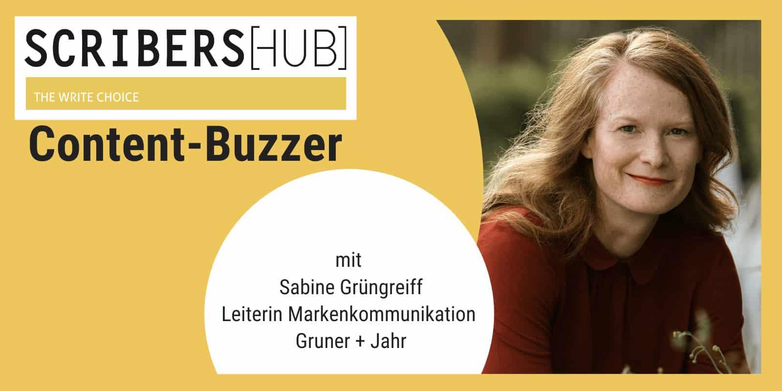 Sabine Grüngreiff im Scribershub Content Buzzer
