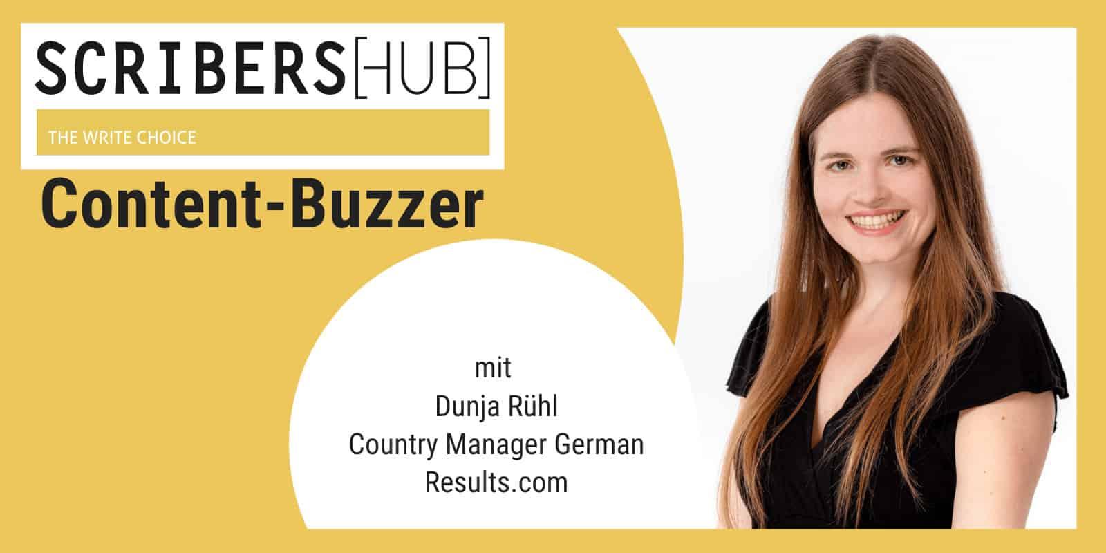 Dunja Rühl im Scribershub Content Buzzer