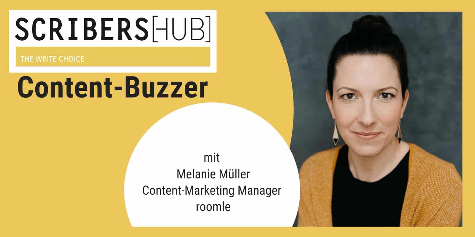 Melanie Müller im Scribershub Content Buzzer