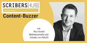 Nico Kunkel im Scribershub Content Buzzer