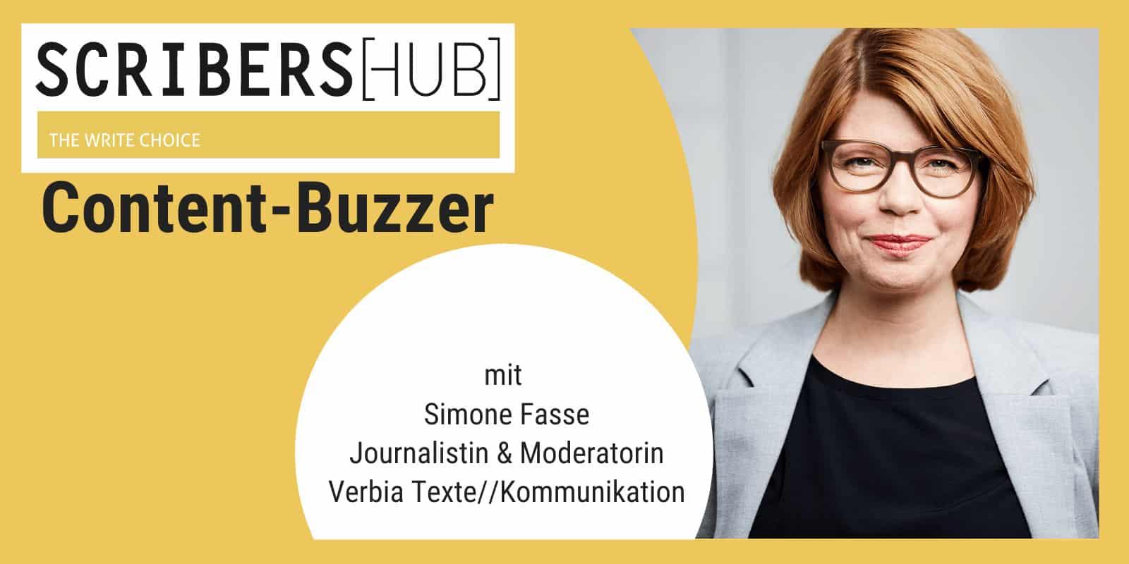 Simone Fasse im Scribershub Content Buzzer