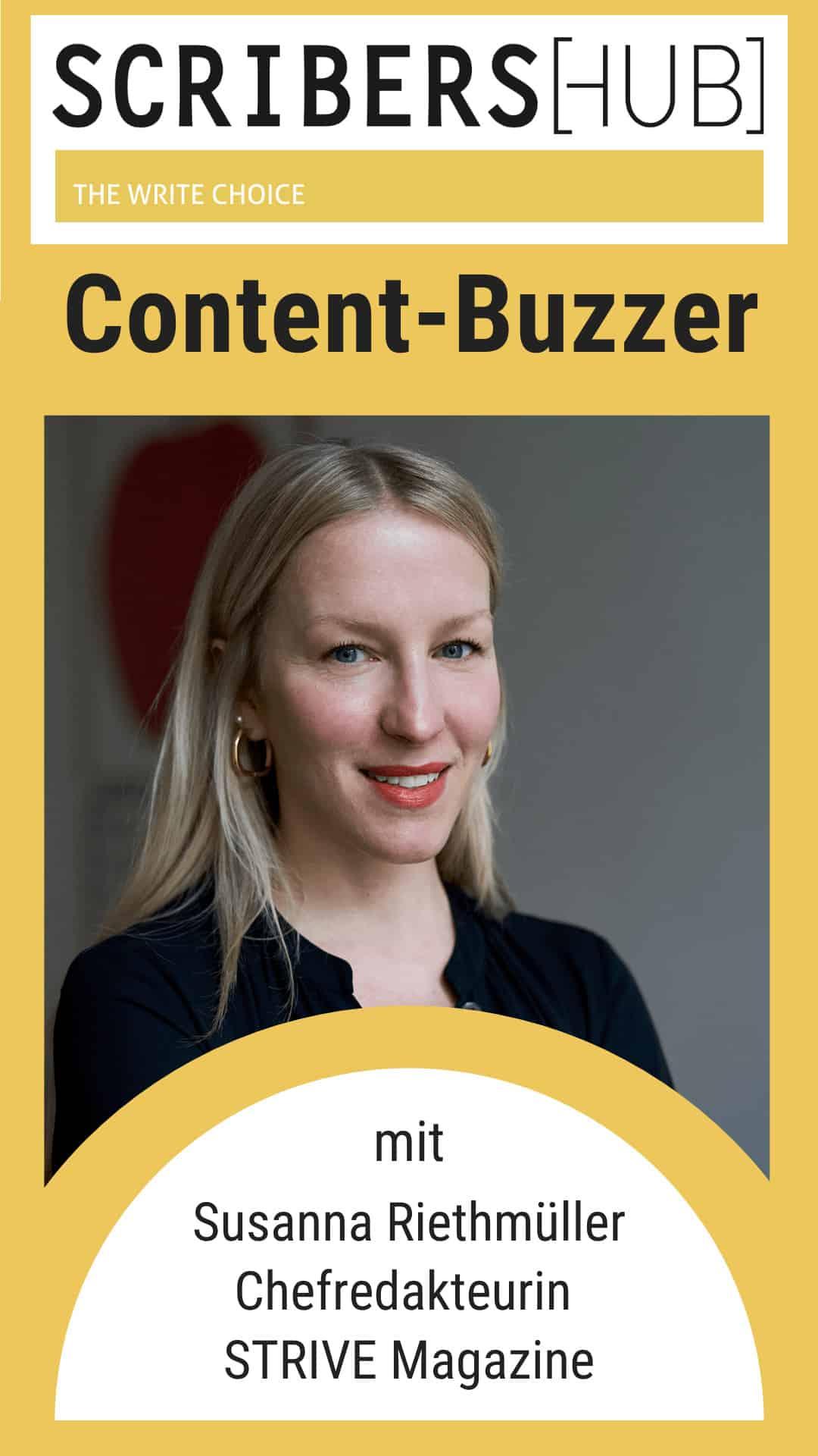 Content Buzzer mit Susanna Riethmüller