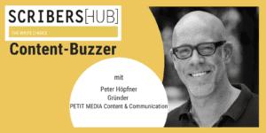 Peter Höpfner von Petit Media Content und Communication im Scribershub Content Buzzer