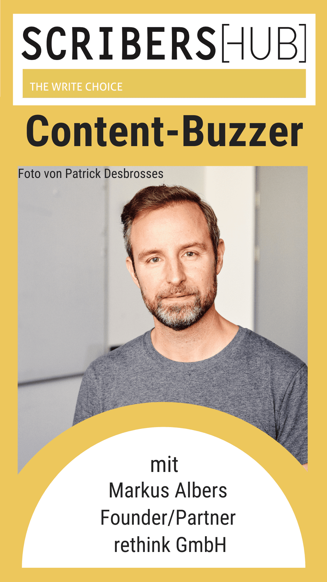 Markus Albers im Content-Buzzer